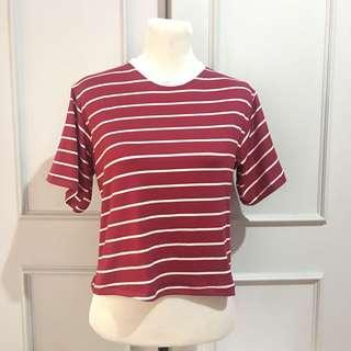 Red Stripes Boxy Top Freesize