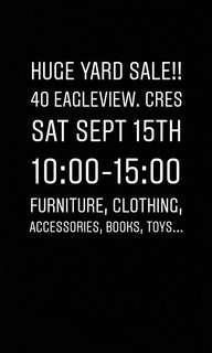 Yard sale!!