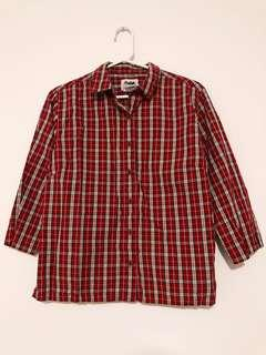 Red White and Black Plaid Shirt