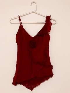 Red Dressy Tank Top