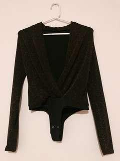 Sparkly Long Sleeve Body Suit