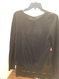 Only women's black sweater
