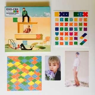 EXO CBX Blooming Days Album Xiumin Photocard & Xiumin Postcard