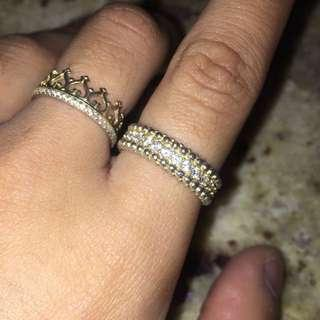 Gold Plated Sterling Silver Ring Size 6 (52)