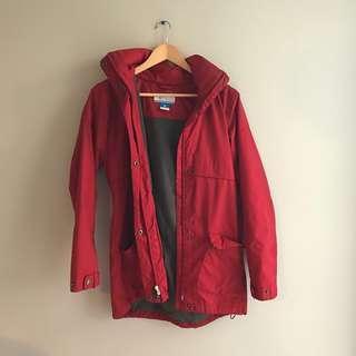 Columbia Red Fleece Lined Jacket