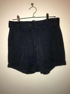 Vintage style navy shorts
