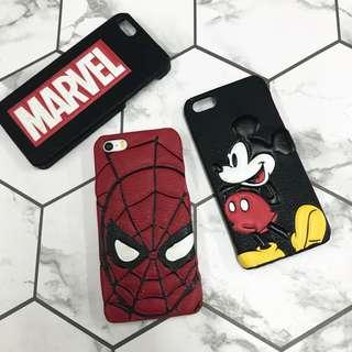 Marvel and Mickey Pu leather case 5/5S/SE