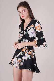 TTR Hyacinth Frilly Romper in Florals