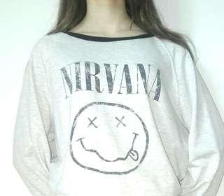 Vintage Style NIRVANA Long Sleeve T-shirt