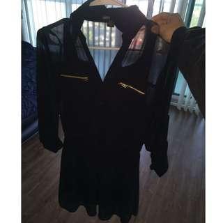 Black Casual Dress Small
