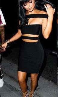 Missguided black tube dress -Xs