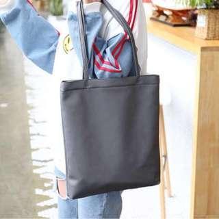 🚚 BN Dark Grey PU Leather Tote Bag (September Promo @$10)
