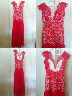 Red Formal Dress Sherri Hill inspired