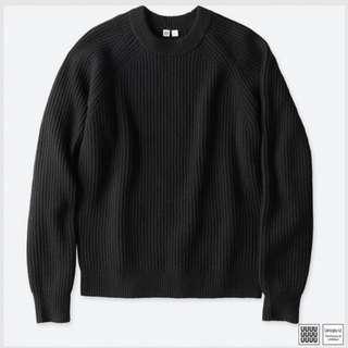 Men Uniqlo U Lambswool Blended Sweater