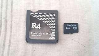 R4 Card With 2GB SD Card ( HAS 45 ENGLISH GAMES!!! ) This R4 Card Is For NDS / NDS Lite CONSOLES ONLY!!!. 💯% WORKING CARD👍!!!. 💯% NO PROBLEM 👍!!!. ** PLEASE REPLY ME IN ENGLISH!!!  🤗 **