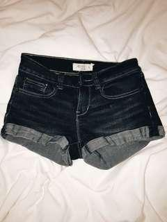 Dark blue denim shorts