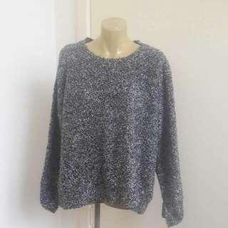 Rivers Brand Grey Knit Jumper Size L