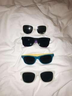 set of sunglasses (or $3 each)