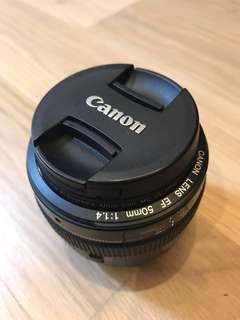 Canon Lens ER 50mm f1.4