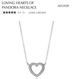 PANDORA necklace - loving hearts