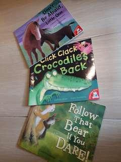 3x children storybooks softcover