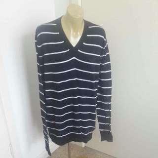 Pronto Basic Soft Striped Long Jumper Size L