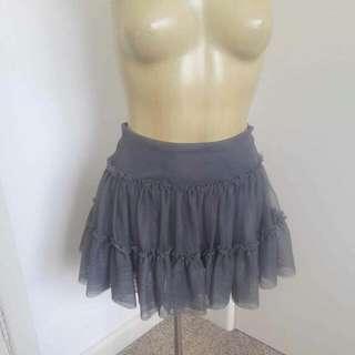 'Free People' Layered Green/Grey Khaki Skirt Size M