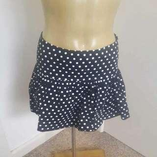 Supre Polka Dot Spotty Black And White Skirt Size XS