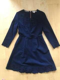 Size 2 Navy Ted Baker dress - worn once