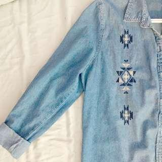 💠F21 Vintage Denim Shirt