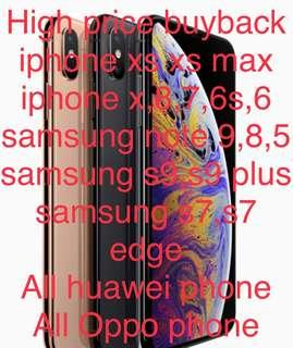 High price buy back new and used iphone samsung huawei