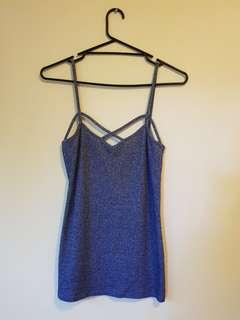 Dusty Blue Strappy Top