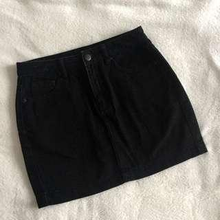 Forever 21 Black Denim Skirt