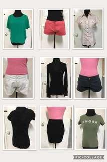 Set B-Choose Any 3 for Php150!!! (Women's/Ladies' Clothes, Top, Blouse, Sleeveless, Longsleeves, Hoodie, Spaghetti Strap, Shorts, Skirt)