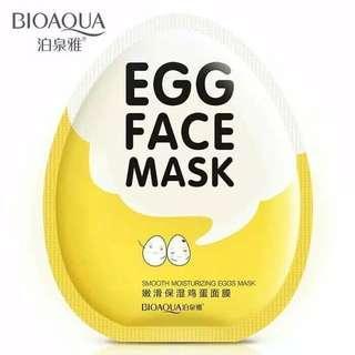 Masker Bioaqua Egg Face Mask / Masker Wajah / Sheet Mask