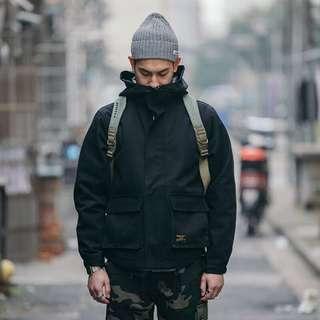 🚚 美式工裝外套復古休閒寬鬆連帽夾克
