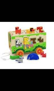 Brand new wooden bus puzzle