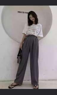 Grey High Waist Pants