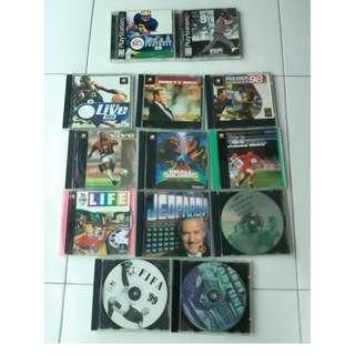 wholelot 2 original + foc 12 NA Game Used 14 pcs ps1 PlayStation one game collector sports