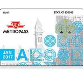 2012, 2013, 2014, 2015, 2016 and 2017 metropass