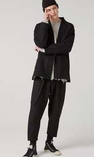 日本品牌棉麻材質休閒九分褲size-1