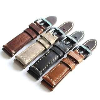Retro Series Cowhide Leather Watch Strap