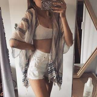 Super cute beach flowy sheer top
