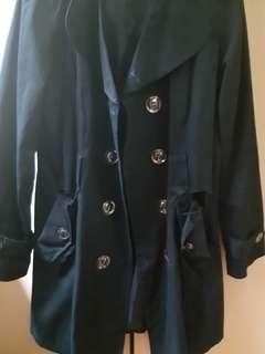Black Trench Coat / Jacket / Winter Coat