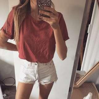 Red Basic Tee
