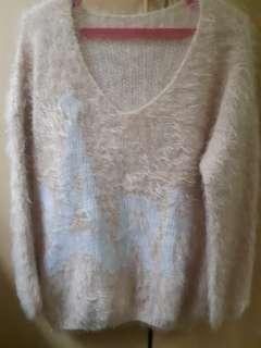Peach and White Paris Fur Winter Longsleeves