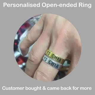Handmade Open-Ended Fashion Rings, personalised for you [follow links within to see many past orders; uncle anthony]
