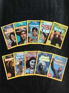 💥NEW- Nat Geo Kids Level 3 Set of 10 books - Children learning books