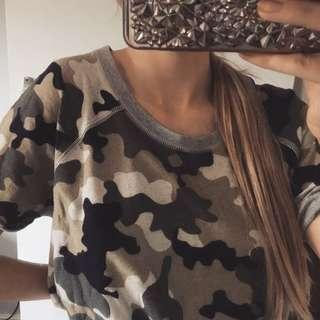 Army Camo print thick t shirt
