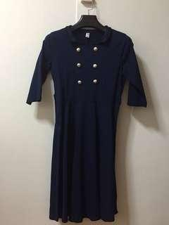 Military Inspired Navy Dress
